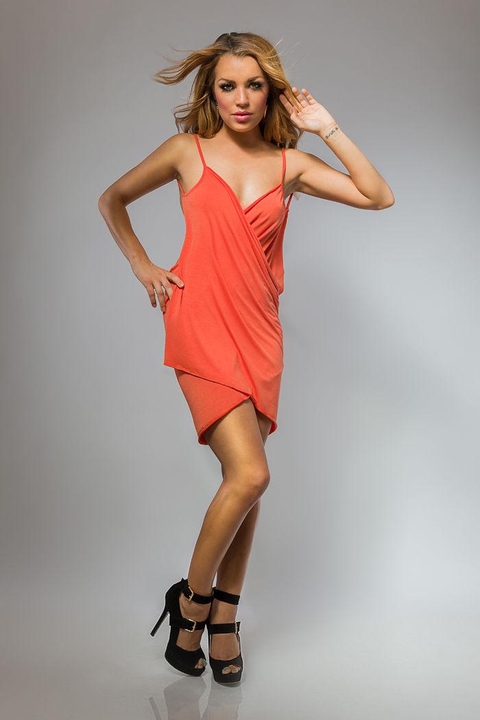Plážové šaty/tunika pareo barva oranžová L/XL
