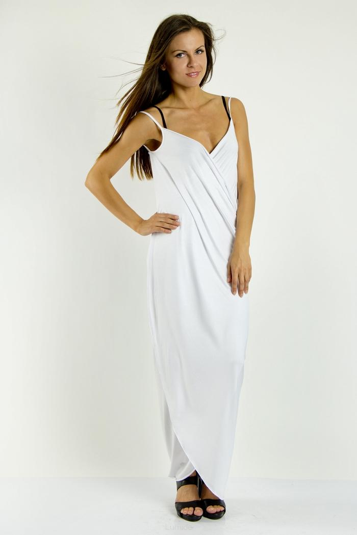 a03e100a4cb Plážové šaty pareo dlouhé barva bílá