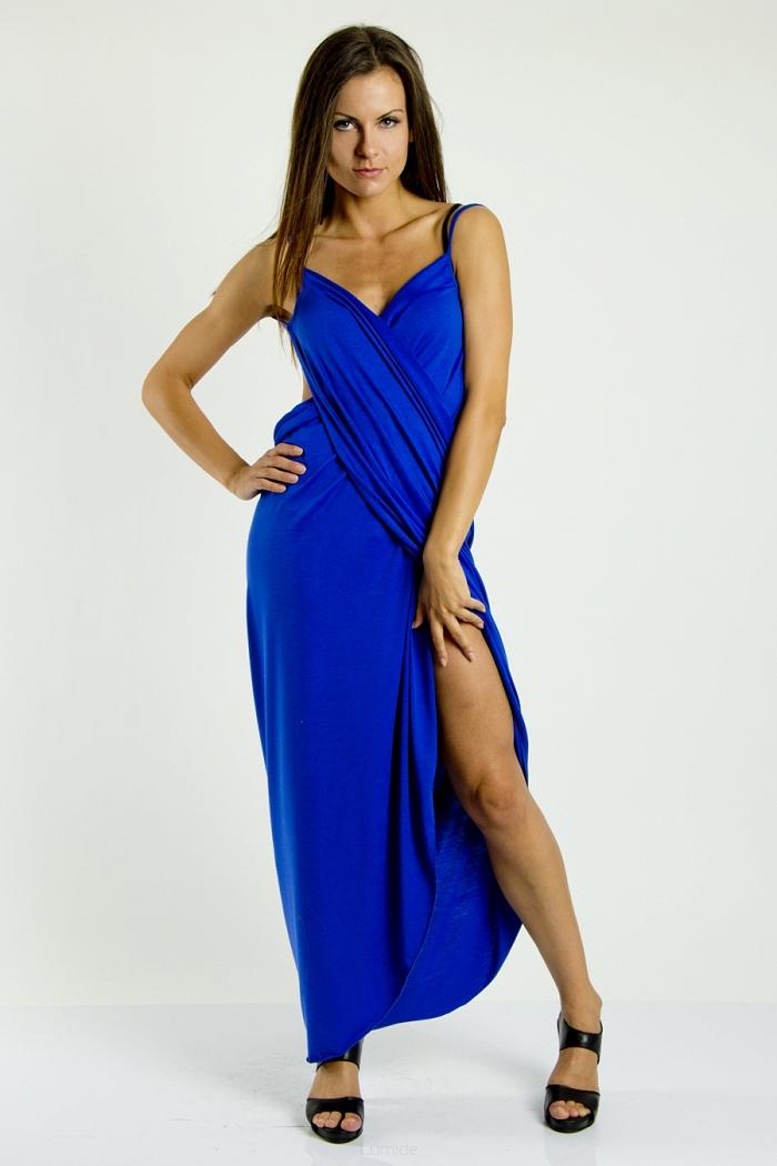 f8de9130f78 Plážové šaty pareo dlouhé barva modrá