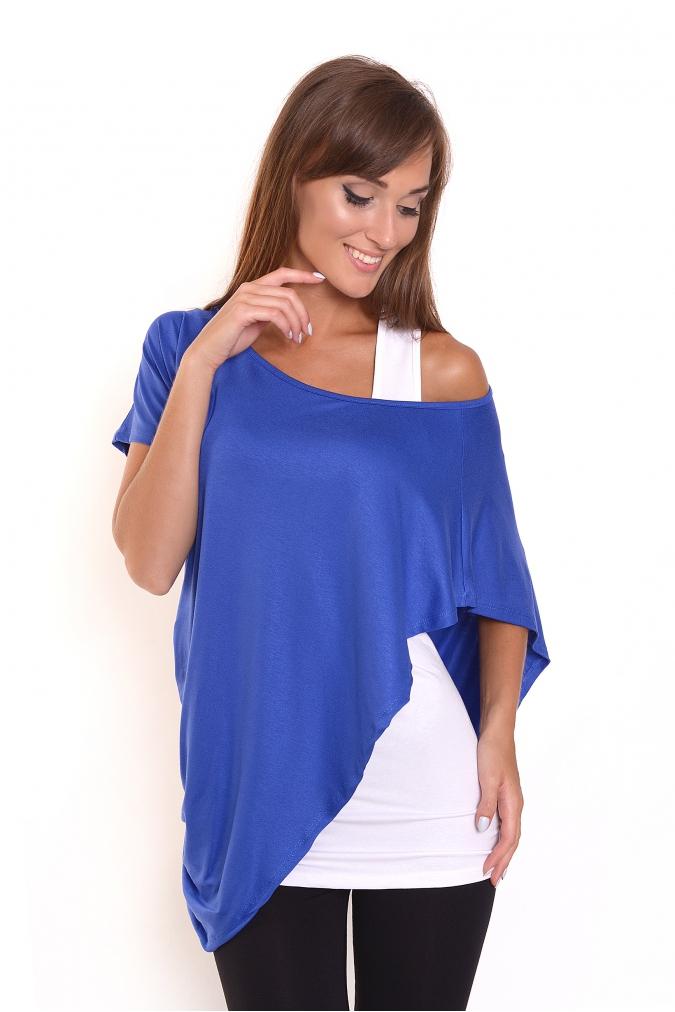 Tuniko-top barva modrá/bílá L/XL