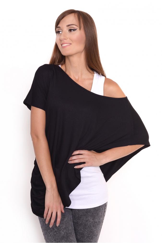 Tuniko-top barva černá/bílá L/XL