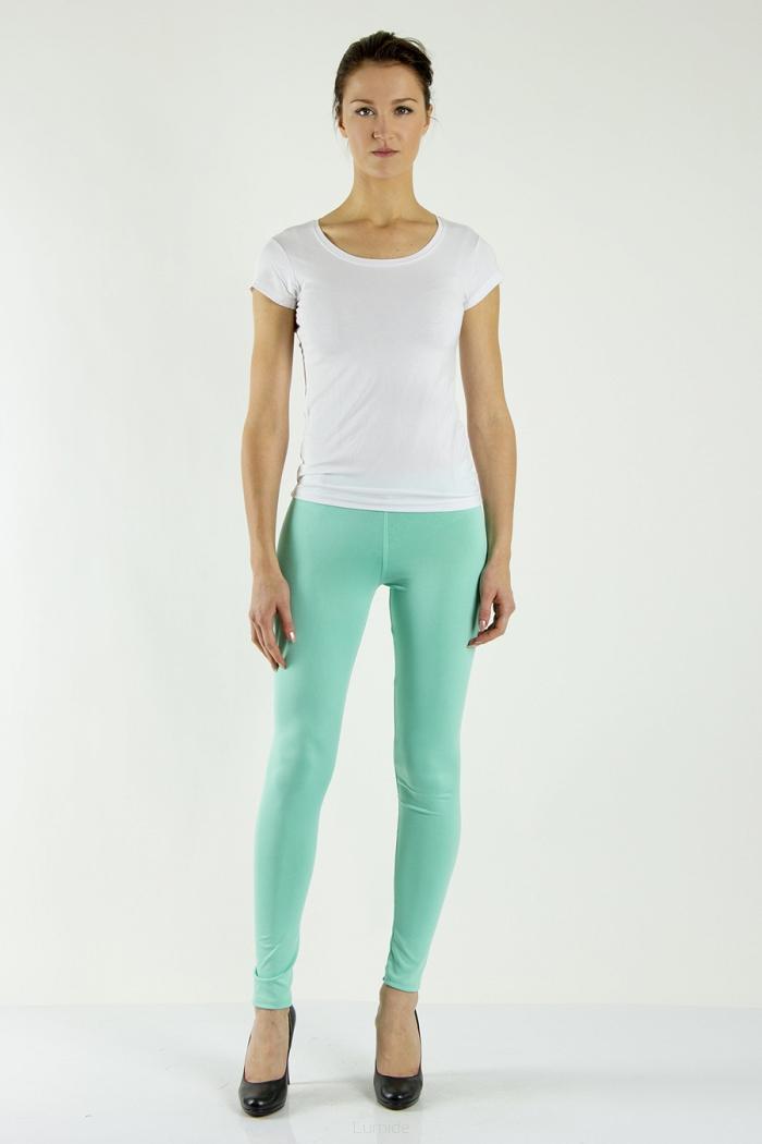 Legíny Lumide Exclusive Wear s kapsami a poutky barva mátová světle zelená  empty ff85859ddf
