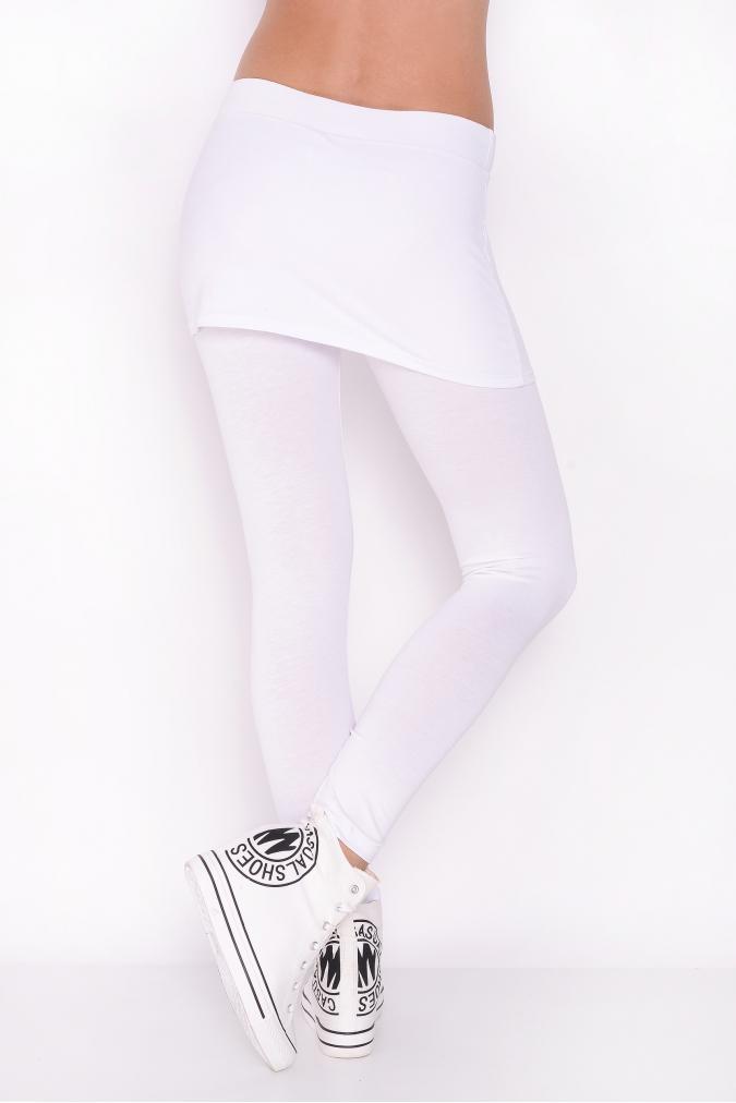 Bílé legíny se sukní  5ac31feeae