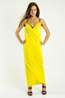 378f916aa47 Plážové šaty pareo dlouhé barva žlutá